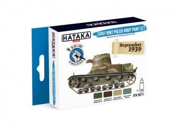 Early WW2 Polish Army - Blue Line Paint set (4 x 17ml) · HTK BS011 ·  Hataka