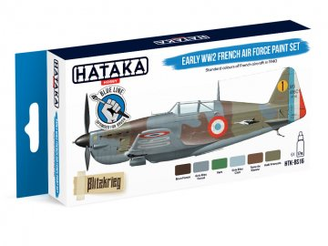 Early WW2 French Air Force - Blue Line Paint set (6 x 17ml) · HTK BS016 ·  Hataka