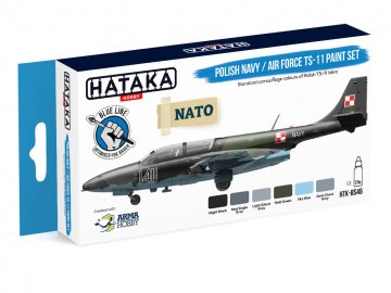 Polish Navy / Air Force TS-11 - Blue Line Paint set (6 x 17ml) · HTK BS046 ·  Hataka