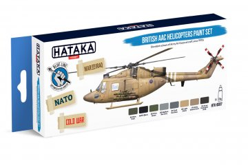 British AAC Helicopters - Blue Line Paint set (8 x 17ml) · HTK BS087 ·  Hataka