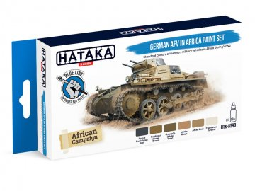 German AFV in Africa - Blue Line Paint set (6 x 17ml) · HTK BS090 ·  Hataka