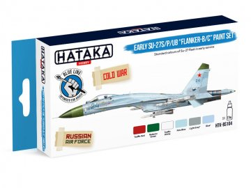 Early Su-27S/P/UB Flanker-B/C - Blue Line Paint set (6 x 17ml) · HTK BS104 ·  Hataka