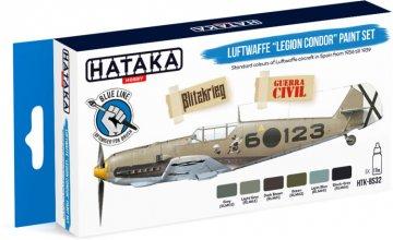 Luftwaffe Legion Condor - Blue Line Paint set (6 x 17ml) · HTK BS32 ·  Hataka
