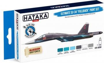 Ultimate Su-34 Fullback - Blue Line Paint set (6 x 17ml) · HTK BS58 ·  Hataka