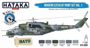 Modern Czech AF - Vol. 1 - Blue Line Paint set (6 x 17 ml) · HTK BS89 ·  Hataka