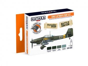 Early Luftwaffe - Orange Line Paint set (4 x 17ml) · HTK CS002 ·  Hataka