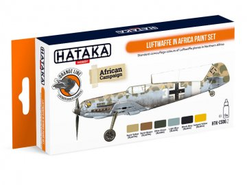 Luftwaffe in Africa - Orange Line Paint set (6 x 17ml) · HTK CS006 ·  Hataka