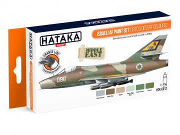 Israeli AF (1970`s desert colours) - Orange Line Paint set (6 x 17ml) · HTK CS012 ·  Hataka