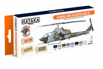 US Marine Corps Helicopters - Orange Line Paint set (8 x 17ml) · HTK CS014 ·  Hataka