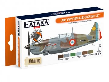 Early WW2 French Air Force - Orange Line Paint set (6 x 17ml) · HTK CS016 ·  Hataka