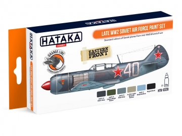 Late WW2 Soviet Air Force - Orange Line Paint set (6 x 17ml) · HTK CS020 ·  Hataka
