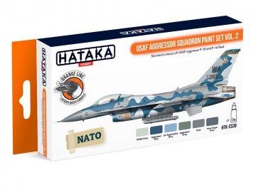 USAF Aggressor Squadron Vol. 2 - Orange Line Paint set (6 x 17ml) · HTK CS030 ·  Hataka