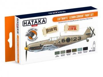 Luftwaffe ?Legion Condor? - Orange Line Paint set (6 x 17ml) · HTK CS032 ·  Hataka