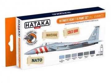 Ultimate USAF F15 (all variants) - Orange Line Paint set (6 x 17ml) · HTK CS043 ·  Hataka