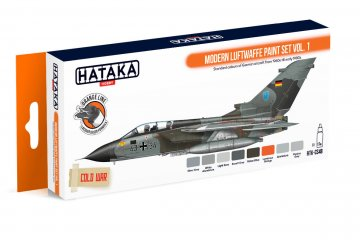 Modern Luftwaffe Vol. 1 - Orange Line Paint set (8 x 17ml) · HTK CS048 ·  Hataka