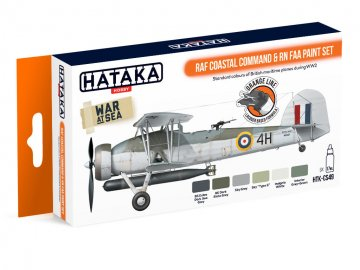 RAF Coastal Command & RN FAA - Orange Line Paint set (6 x 17ml) · HTK CS049 ·  Hataka