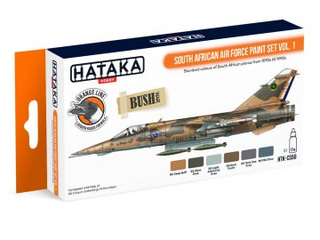 South African Air Force Vol. 1 - Orange Line Paint set (6 x 17ml) · HTK CS050 ·  Hataka