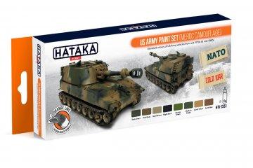 US Army (MERDC camouflage) - Orange Line Paint set (8 x 17ml) · HTK CS051 ·  Hataka