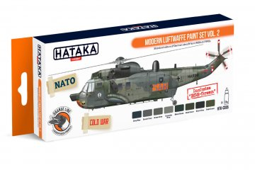 Modern Luftwaffe Vol. 2 - Orange Line Paint set (8 x 17ml) · HTK CS055 ·  Hataka
