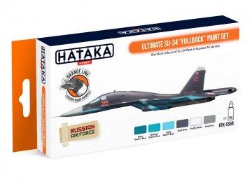 Ultimate Su-34 Fullback - Orange Line Paint set (6 x 17ml) · HTK CS058 ·  Hataka