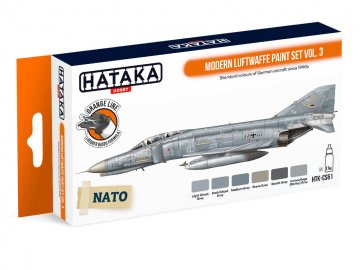 Modern Luftwaffe Vol. 3 - Orange Line Paint set (6 x 17ml) · HTK CS061 ·  Hataka