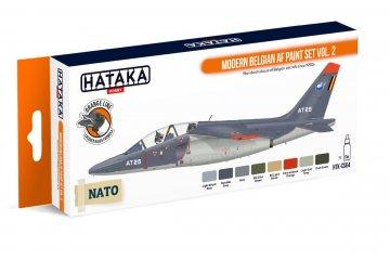 Modern Belgian AF Vol. 2 - Orange Line Paint set (8 x 17ml) · HTK CS064 ·  Hataka