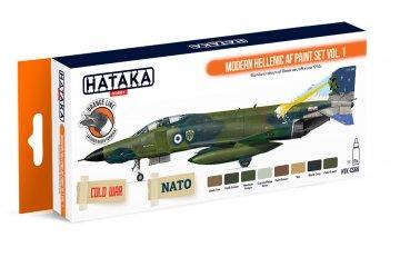Modern Hellenic AF Paint Set Vol. 1 - Orange Line Paint set (8 x 17ml) · HTK CS068 ·  Hataka