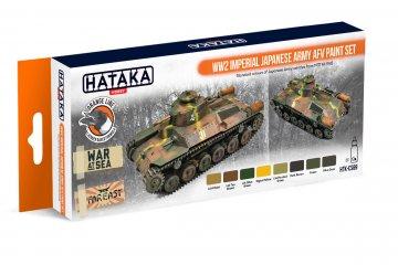 WW2 Imperial Japanese Army AFV - Orange Line Paint set (8 x 17ml) · HTK CS069 ·  Hataka