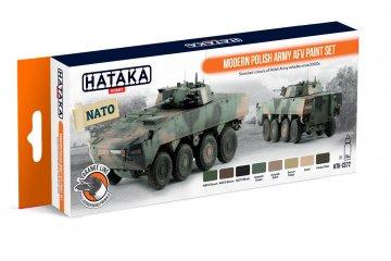 Modern Polish Army AFV - Orange Line Paint set (8 x 17ml) · HTK CS072 ·  Hataka