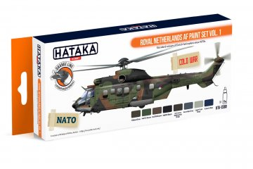 Royal Netherlands AF Vol. 1 - Orange Line Paint set (8 x 17ml) · HTK CS080 ·  Hataka