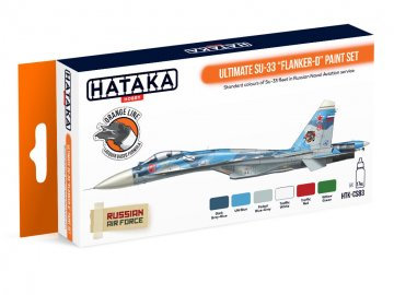 Ultimate Su-33 Flanker-D - Orange Line Paint set (6 x 17ml) · HTK CS083 ·  Hataka