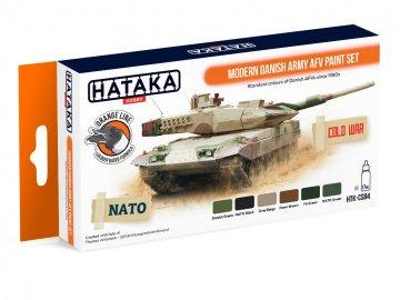 Modern Danish Army AFV - Orange Line Paint set (6 x 17ml) · HTK CS084 ·  Hataka