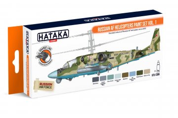 Russian AF Helicopters Vol. 1 - Orange Line Paint set (8 x 17ml) · HTK CS086 ·  Hataka
