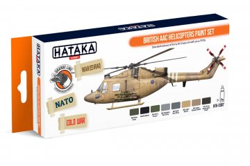 British AAC Helicopters - Orange Line Paint set (8 x 17ml) · HTK CS087 ·  Hataka