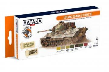 Late WW2 German AFV - Orange Line Paint set (8 x 17ml) · HTK CS094 ·  Hataka