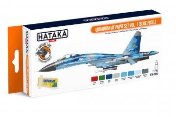 Ukrainian AF Vol. 1 (Blue Pixel) - Orange Line Paint set (8 x 17ml) · HTK CS096 ·  Hataka