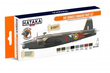 RAF Bomber Command - Orange Line Paint set (8 x 17ml) · HTK CS102 ·  Hataka
