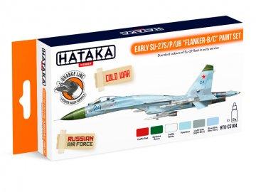 Early Su-27S/P/UB Flanker-B/C - Orange Line Paint set (6 x 17ml) · HTK CS104 ·  Hataka