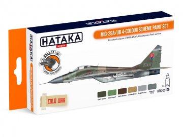 MiG-29A/UB 4-colour scheme - Orange Line Paint set (6 x 17ml) · HTK CS105 ·  Hataka