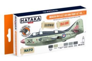 Modern RN Fleet Air Arm - Orange Line Paint set vol. 1 (6 x 17ml) · HTK CS113 ·  Hataka