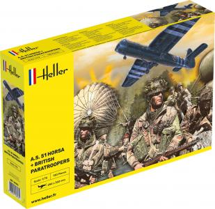 A.S. 51 Horsa + Paratroopers · HE 30313 ·  Heller · 1:72