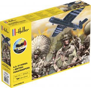A.S. 51 Horsa+ Paratroopers - Starter Kit · HE 35313 ·  Heller · 1:72