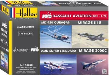 Coffret 100 ANS Dassault Aviation · HE 52320 ·  Heller · 1:72