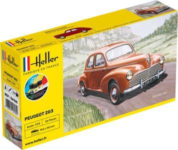 Peugeot 203 - Starter Kit · HE 56160 ·  Heller · 1:43