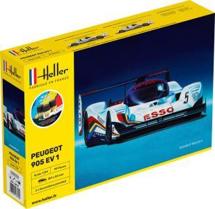 --Peugeot 905 EV 1 - Starter Kit · HE 56718 ·  Heller · 1:24