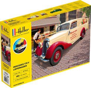 MB 170 Lieferwagen - Starter Kit · HE 56736 ·  Heller · 1:24