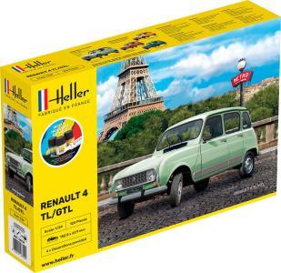 Renault 4l - Starter Kit · HE 56759 ·  Heller · 1:24