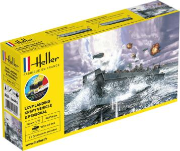 LCVP Landungsboot + Figures - Starter Kit · HE 56995 ·  Heller · 1:72