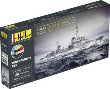 Torpedoboot T23 - Starter Kit · HE 57011 ·  Heller · 1:400