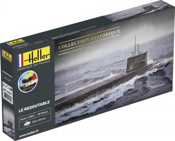 U-Boot S/M Redoutable - Starter Kit · HE 57075 ·  Heller · 1:400
